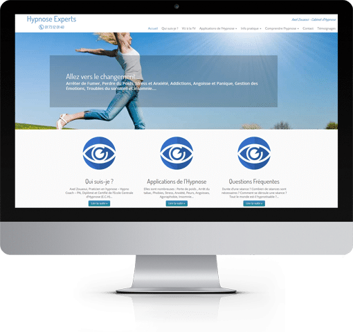 Site Hypnose Experts, version bureau