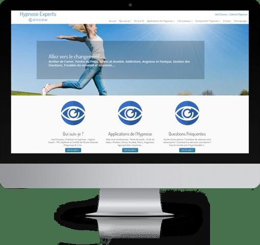 Site Hypnose Experts, version bureau