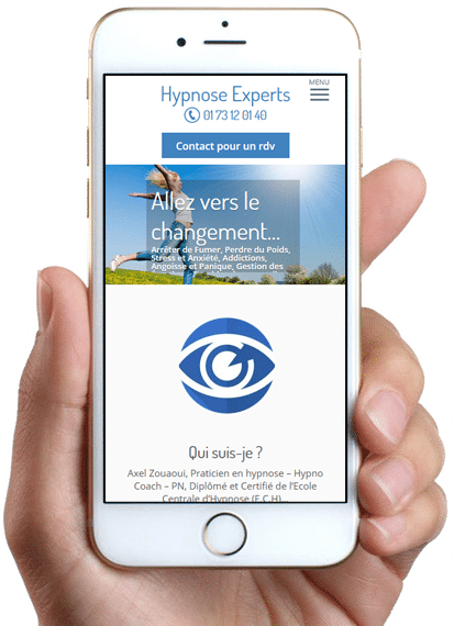 Site Hypnose Experts, version mobile