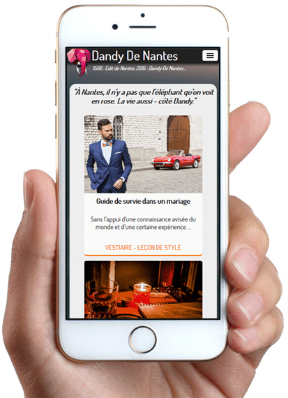 Site Dandy De Nantes, version mobile