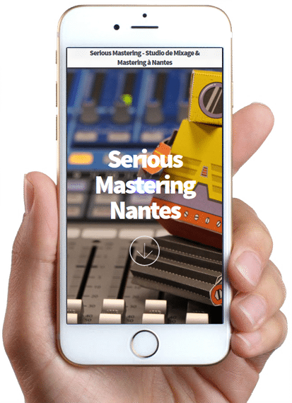 Site Serious Mastering, version mobile