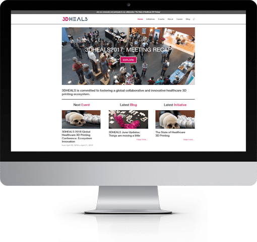 Site 3D Heals, version bureau