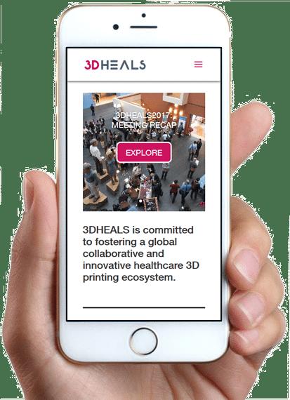 Site 3D Heals, version mobile