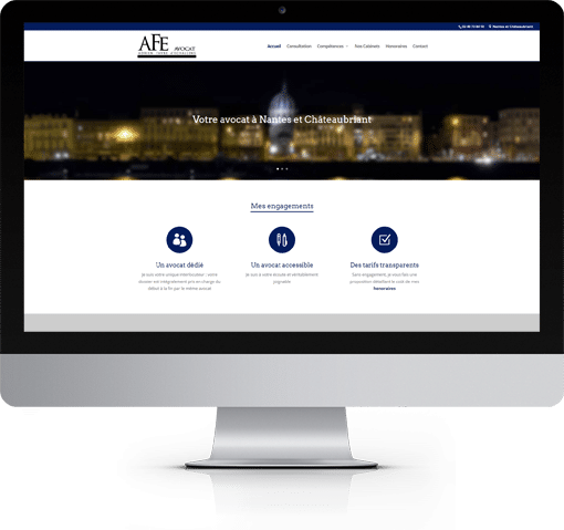 Site AFE Avocat, version bureau