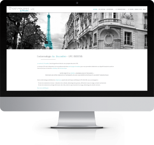 Site Endermologie by Trocadéro, version bureau