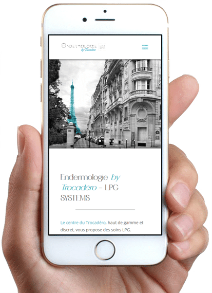 Site Endermologie by Trocadéro, version mobile