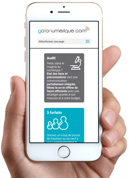 Site Gotonumerique, version mobile