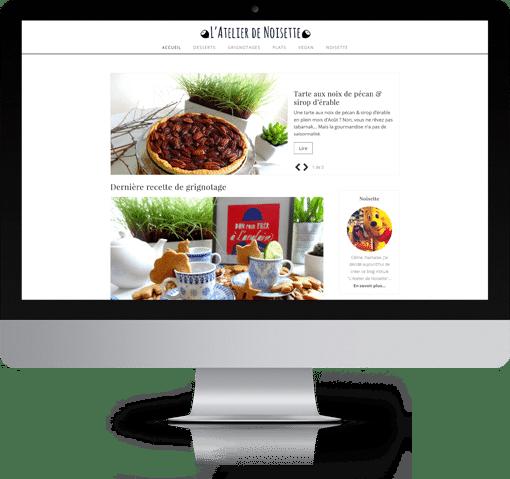 Site L'Atelier de Noisette, version bureau