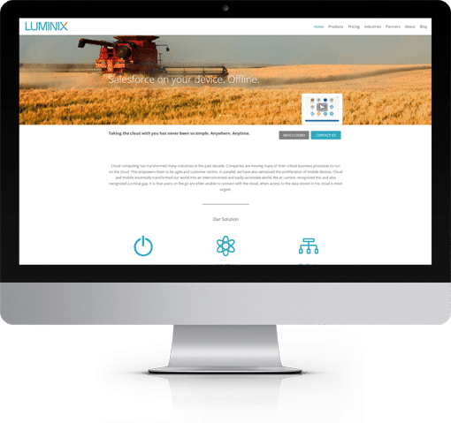 Site Luminix, version bureau
