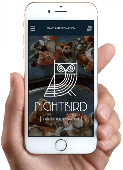 Site Nightbird / Linden Room, version mobile