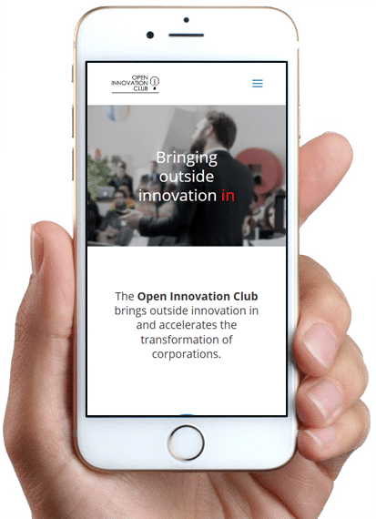 Site Open Innovation Club, version mobile