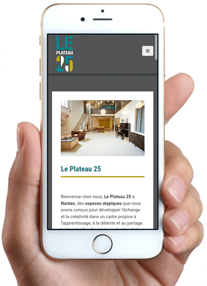 Site Le Plateau 25, version mobile