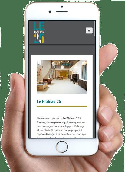 Site Le Plateau 25, version mobile