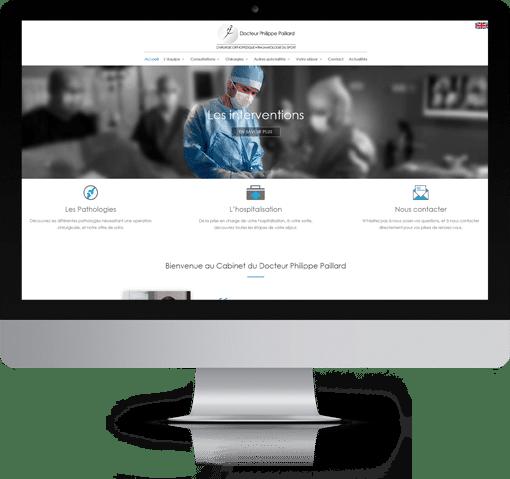 Site Chirurgie Orthopédique Paris, version bureau