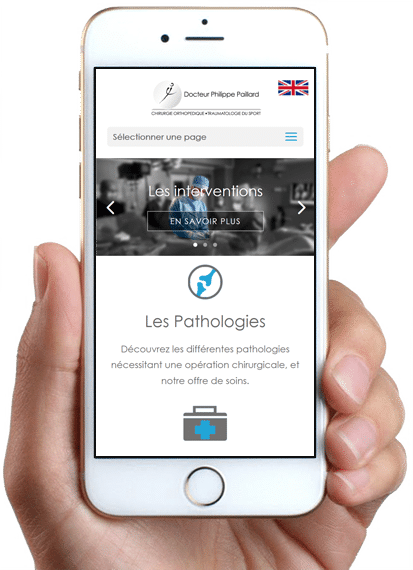 Site Chirurgie Orthopédique Paris, version mobile