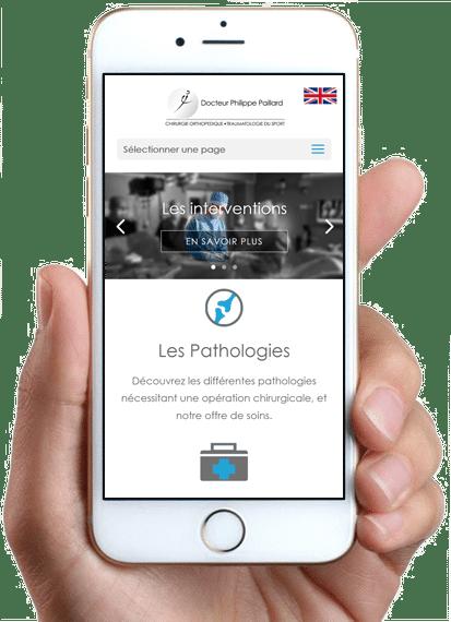 Site Chirurgie Orthopédique Paris, version mobile