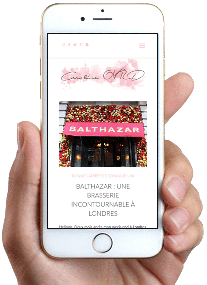 Site Caroline OVRD - LE BLOG, version bureau, version mobile