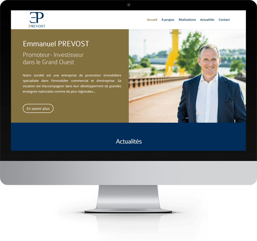 Site Emmanuel PREVOST, version bureau