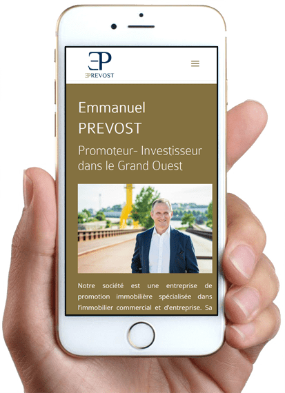 Site Emmanuel PREVOST, version mobile