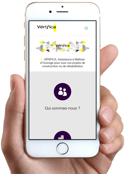 Site Vérifica, version mobile
