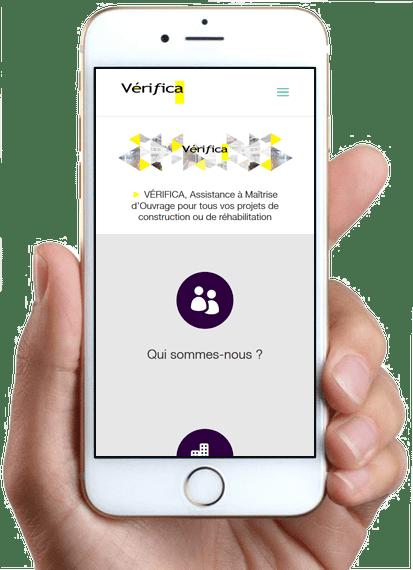 Site Vérifica, version mobile