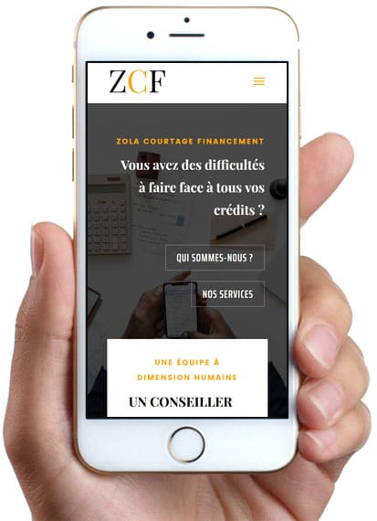 Zola Courtage Financement, version mobile