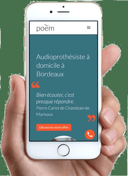 Poèm, version mobile
